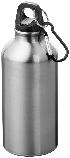 Promotional Oregon 400 ml sport bottle with carabiner