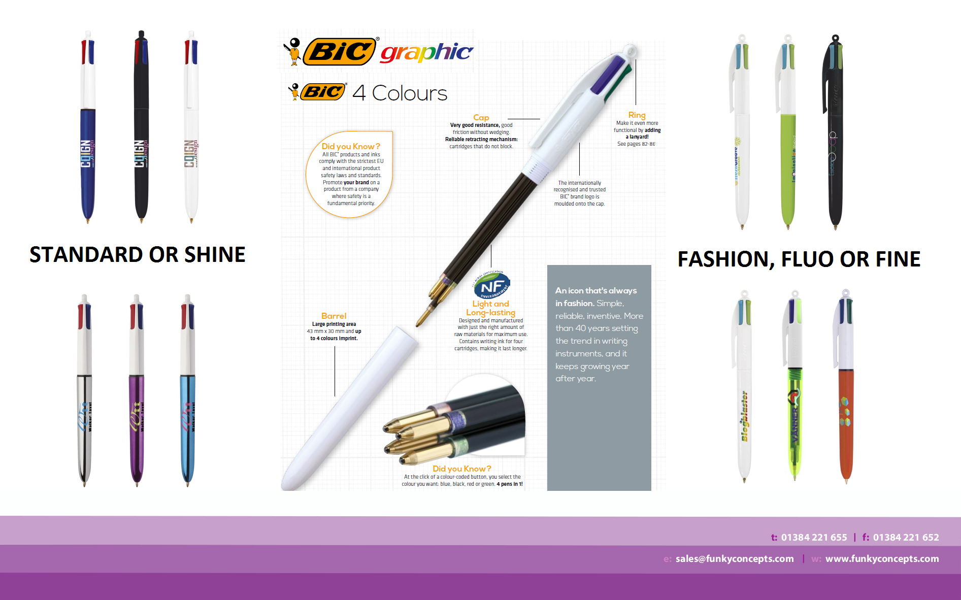 Promotional BIC 4 Colours Fashion Ballpen  Lanyard