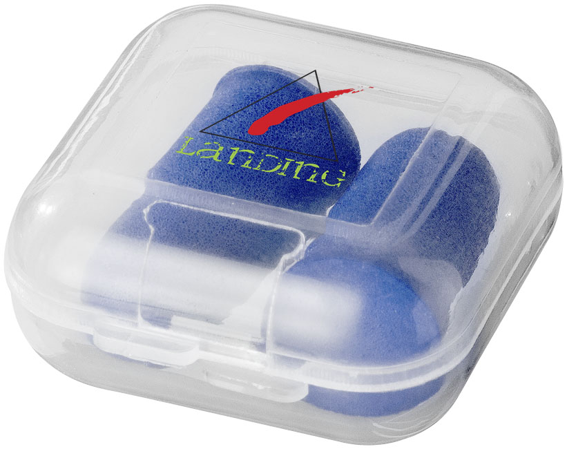 Printed Serenity earplugs with travel case