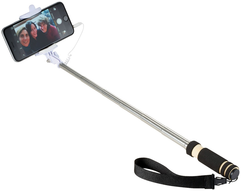Branded Mini Selfie Stick with wrist strap
