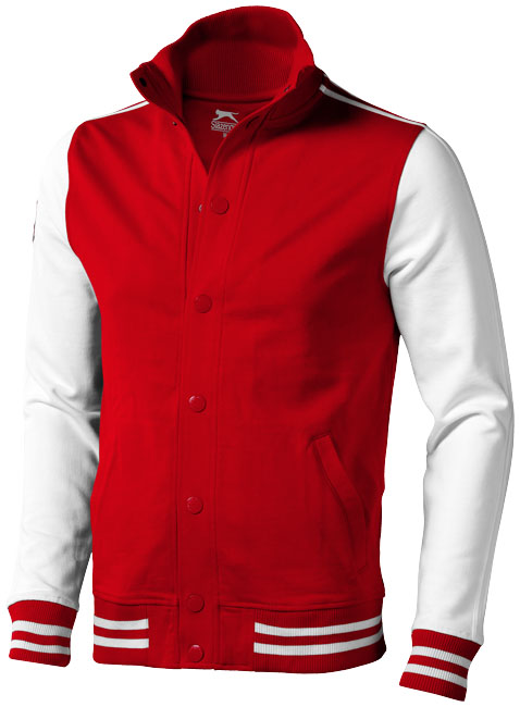 Printed Varsity sweat jacket