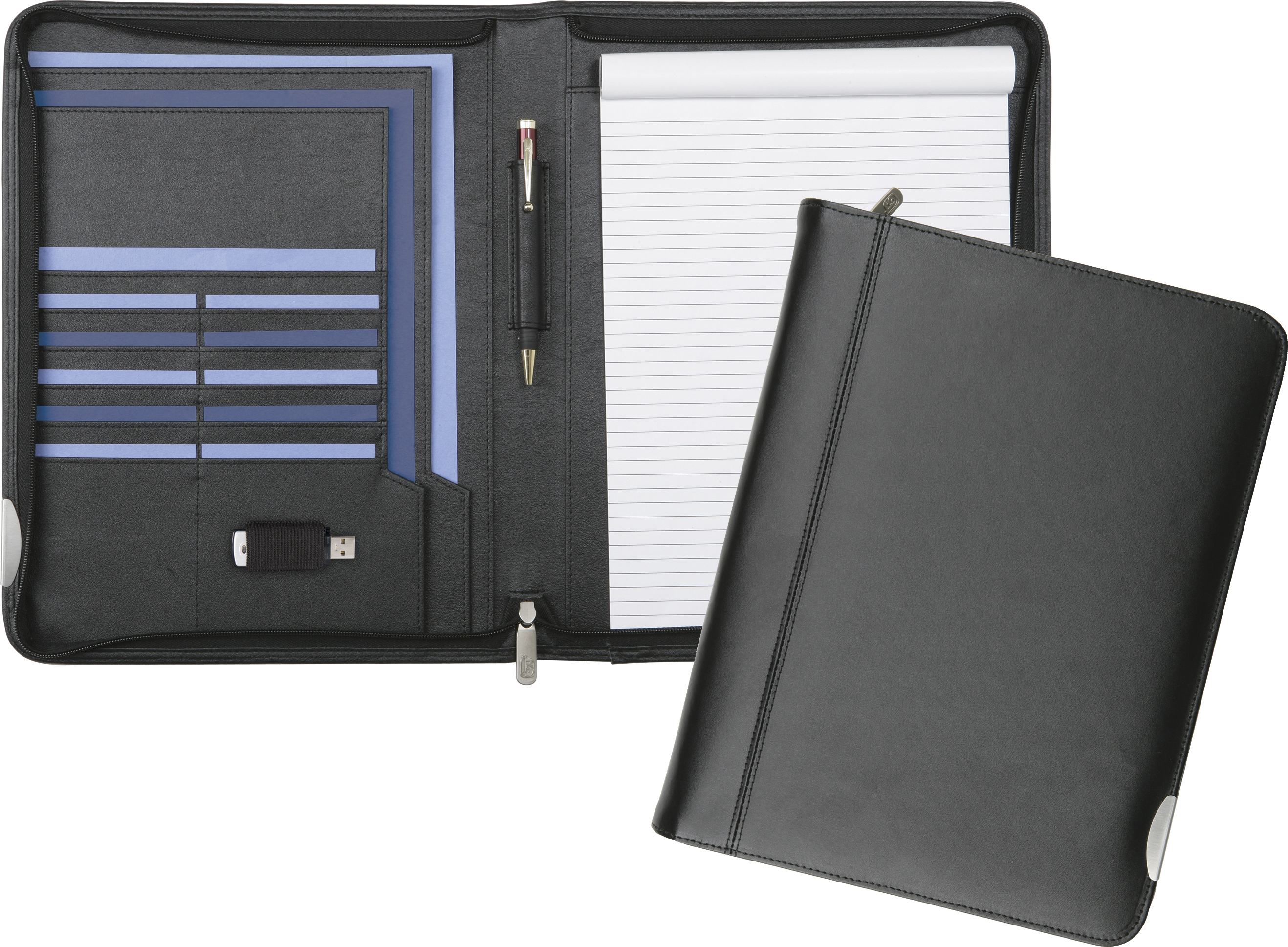 Promotional Fordcombe A4 Zipfolio