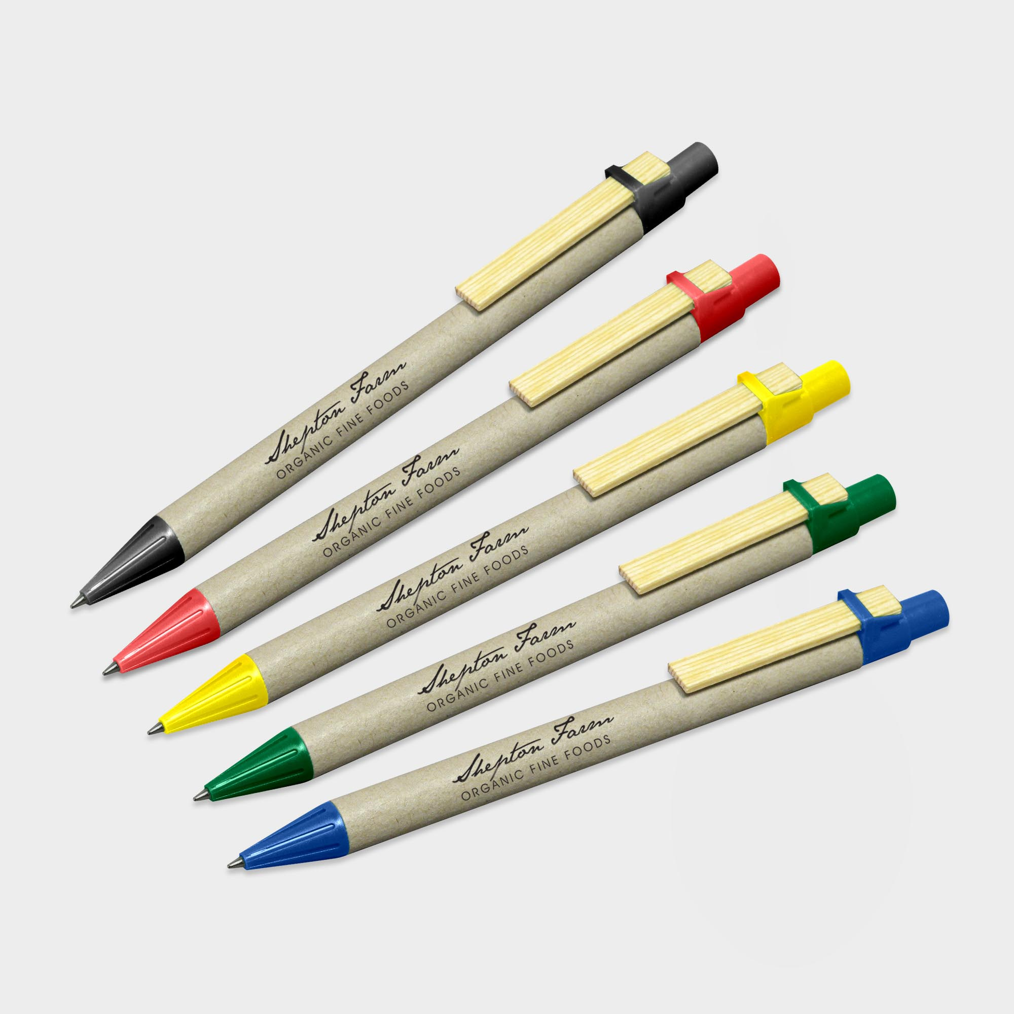 Branded Storia Recycled Pen with Flat Clip