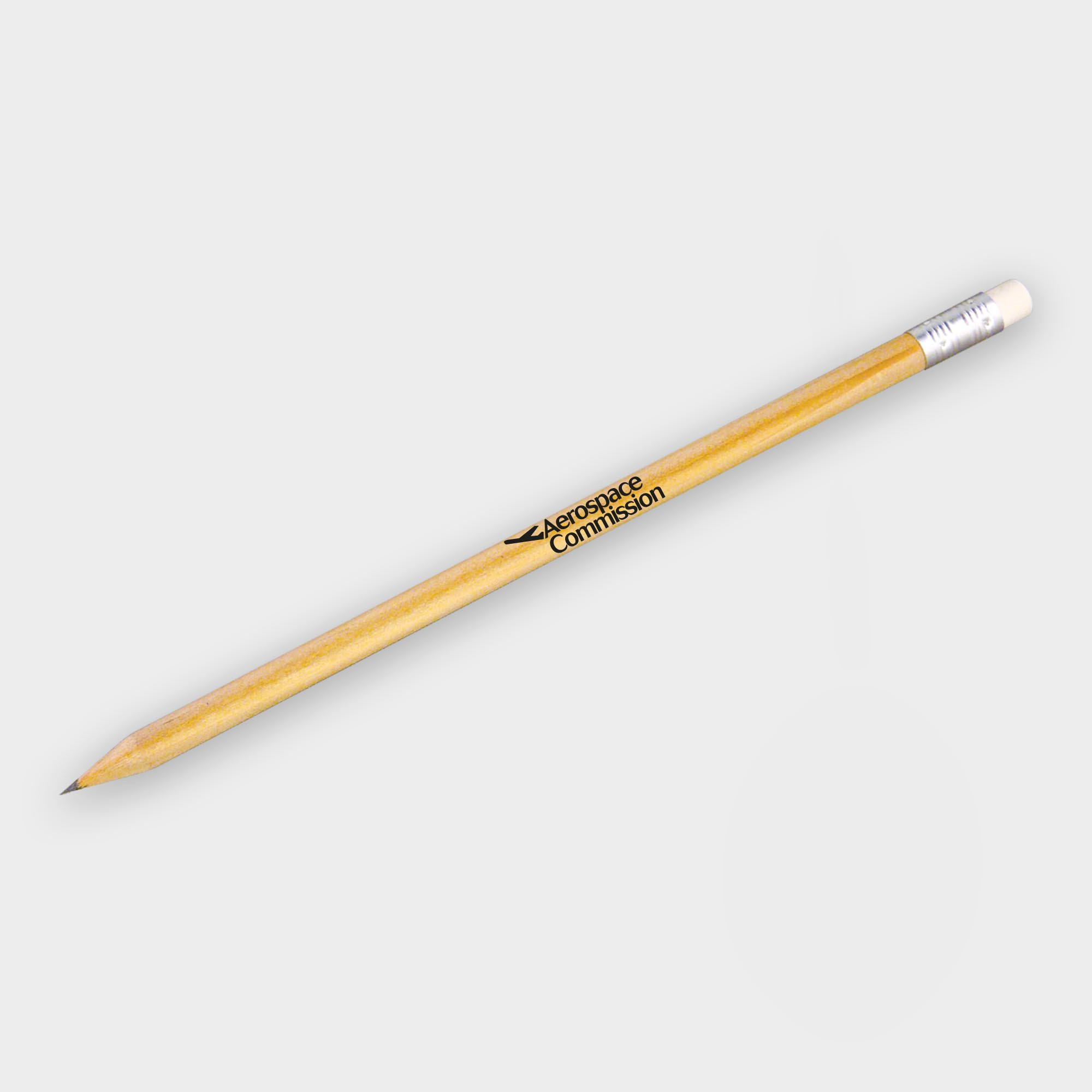 Promotional Wooden Eco Pencils with Eraser - PEFC