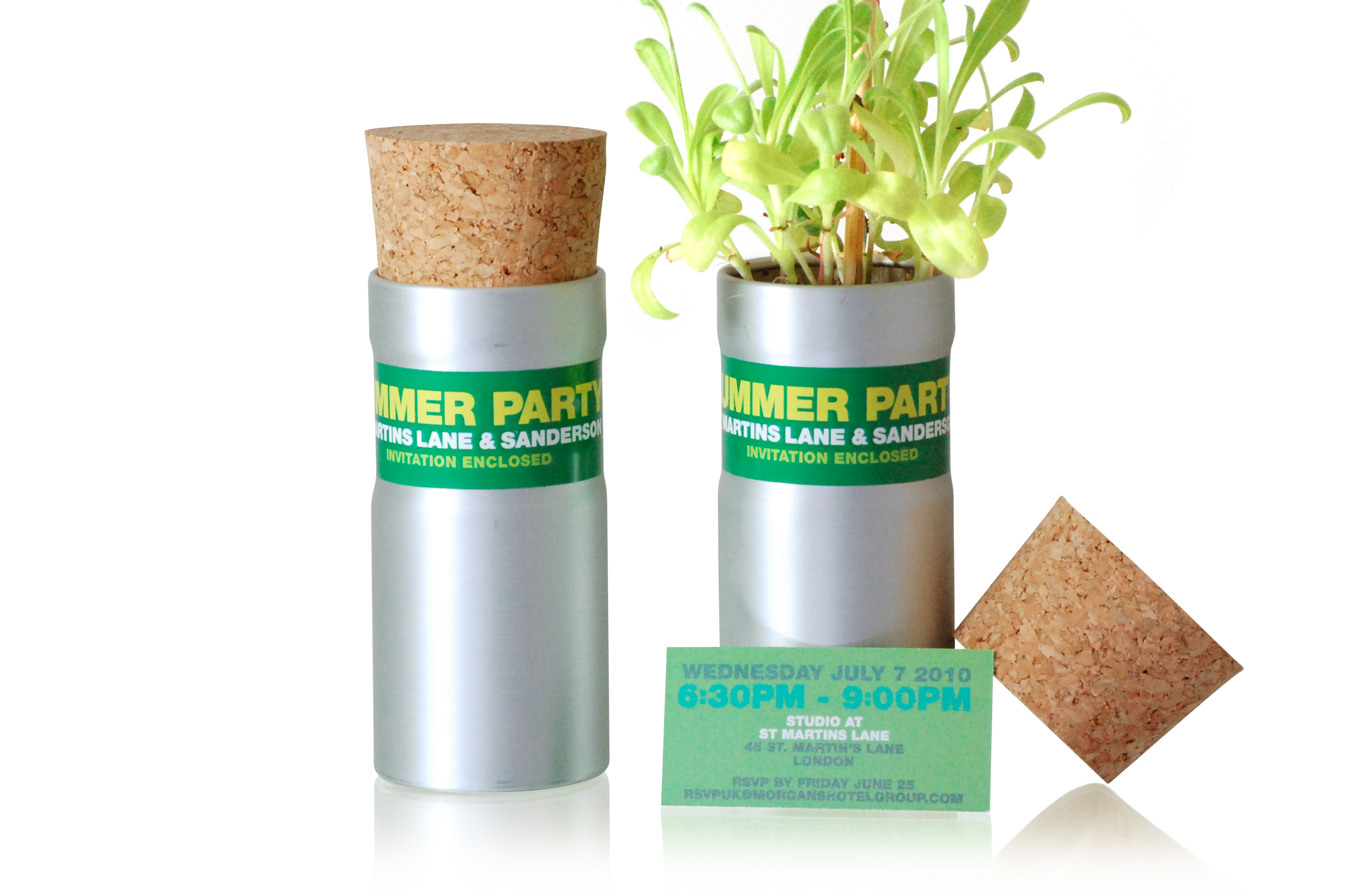 Branded Desktop Garden Tube - Flower Set