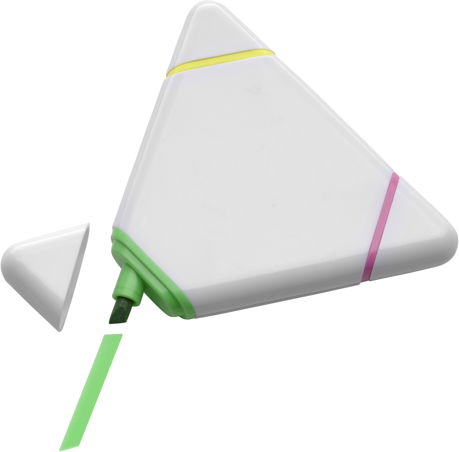 Promotional Plastic triangular text marker.