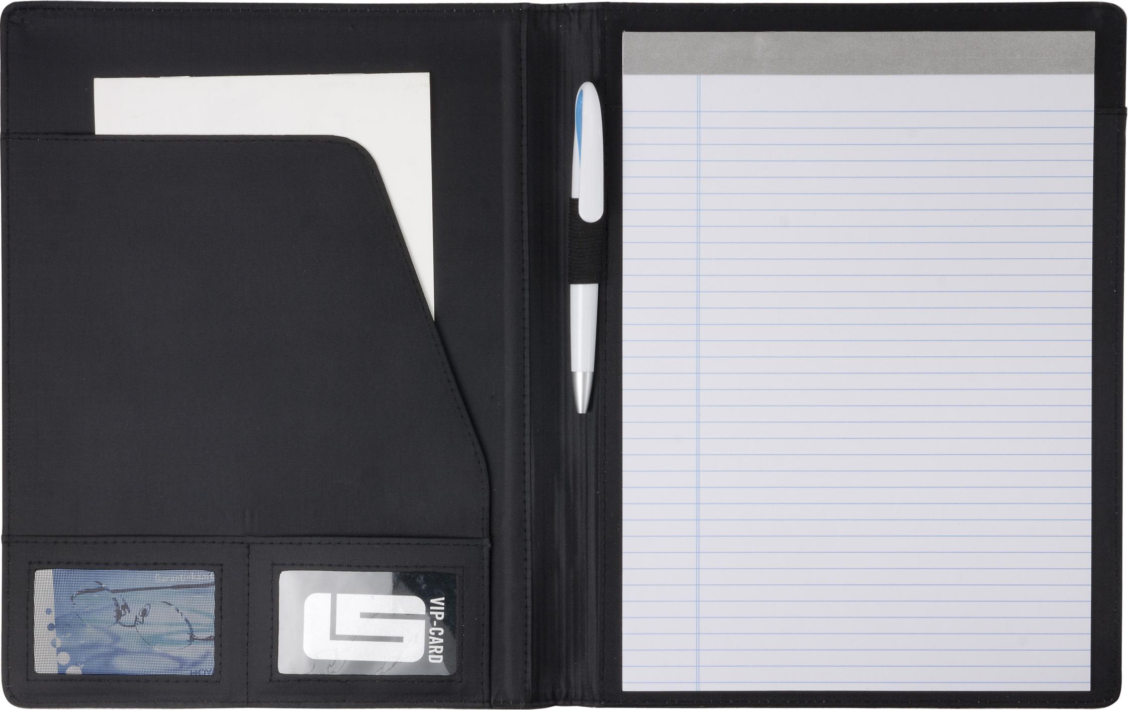 Promotional A4 PVC folder.