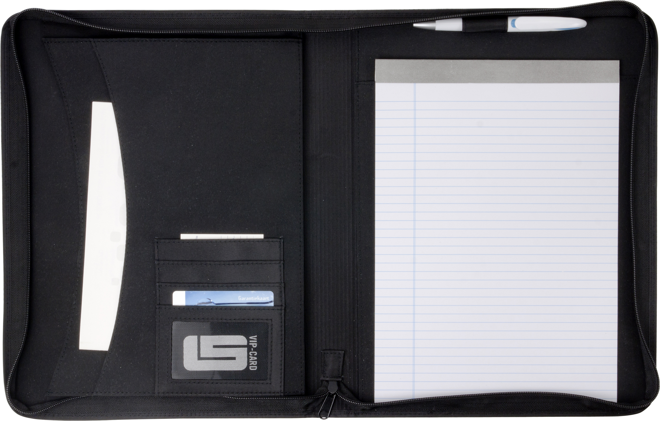 Promotional A4 Zipped PVC folder.