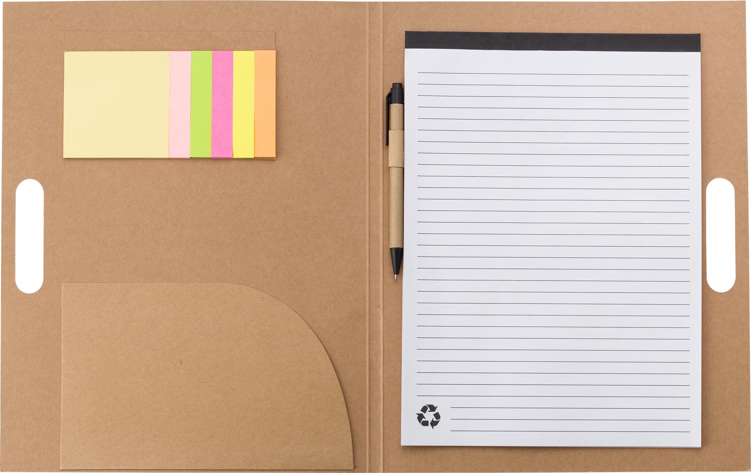 Promotional Folder with natural card cover,