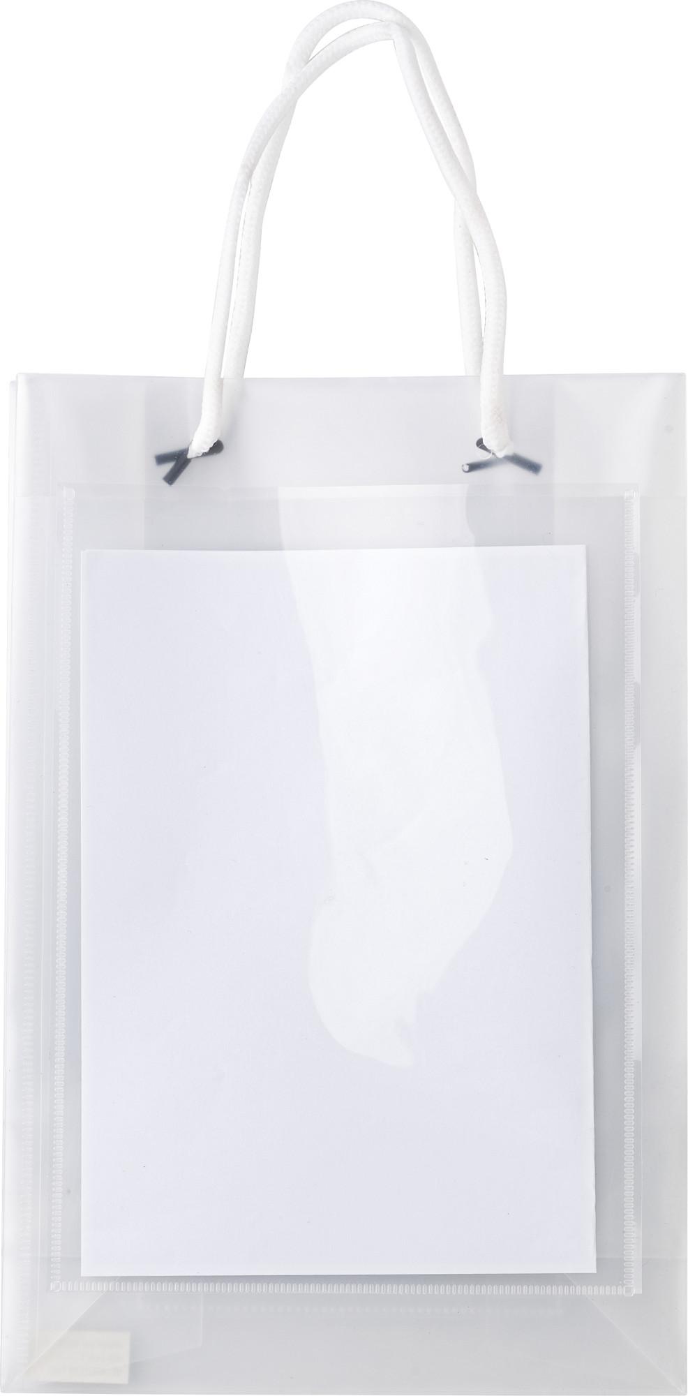 Branded A5 size polypropylene bag