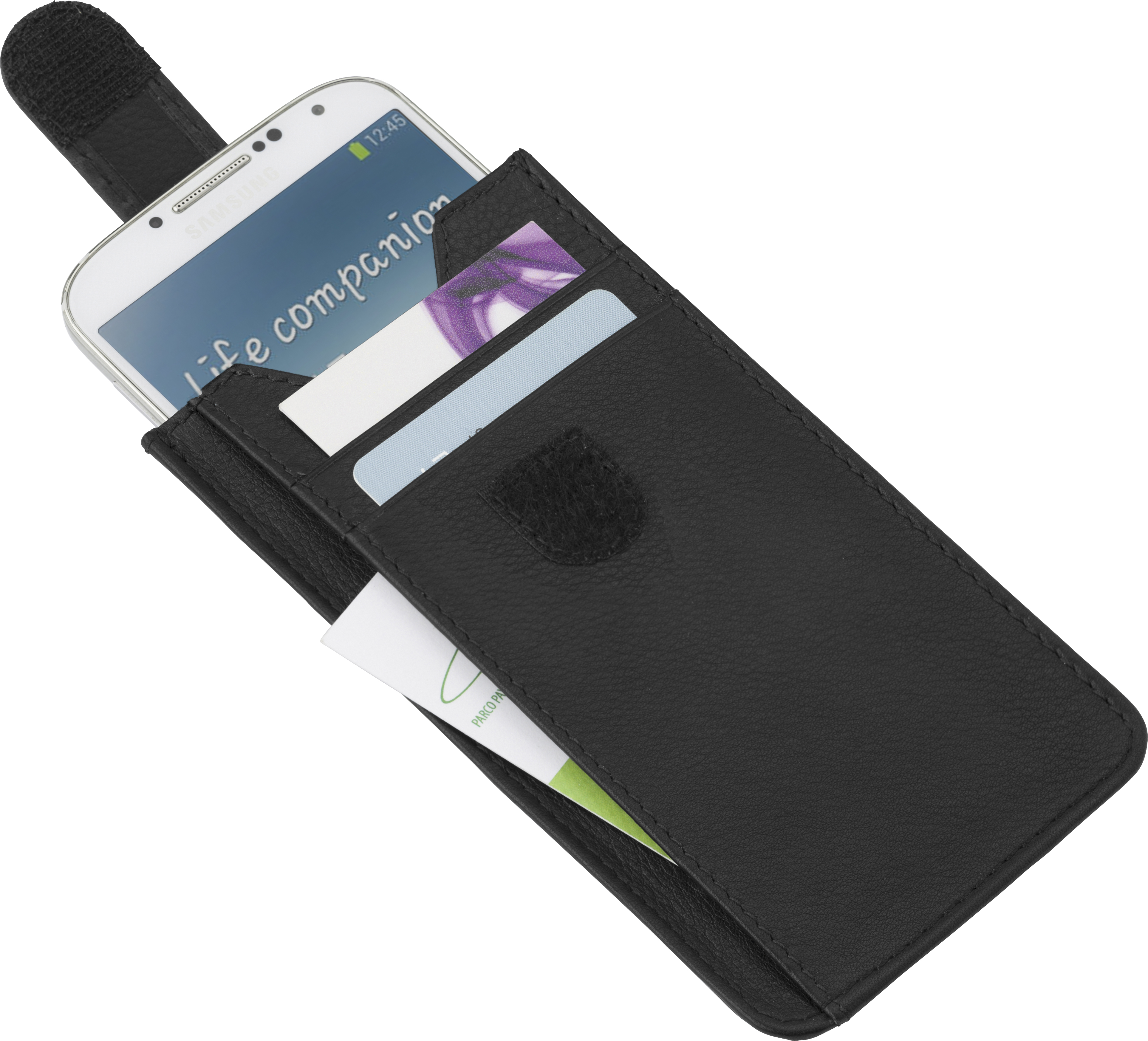 Promotional Leather Charles Dickens® phone holder.
