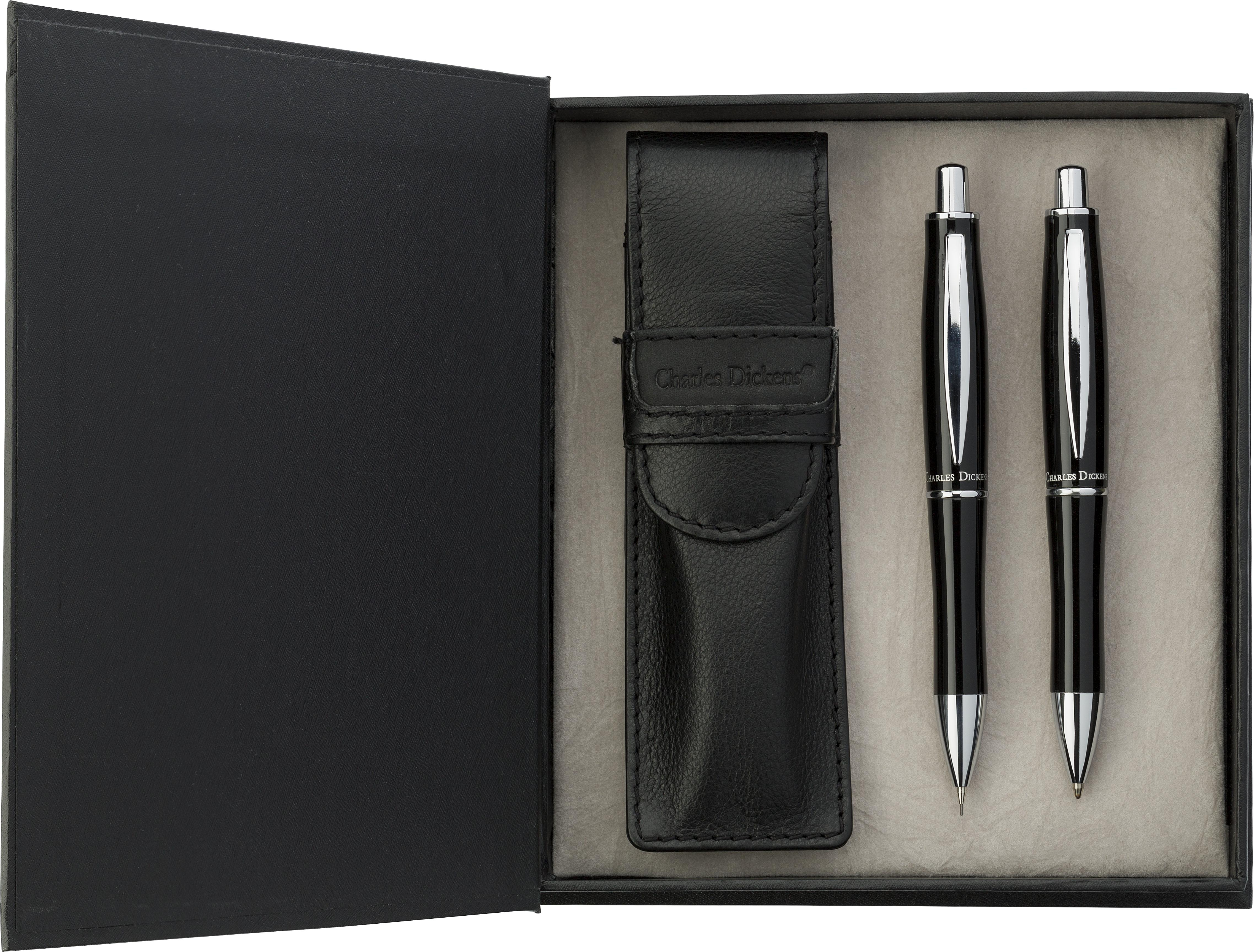 Promotional Charles Dickens® writing set.