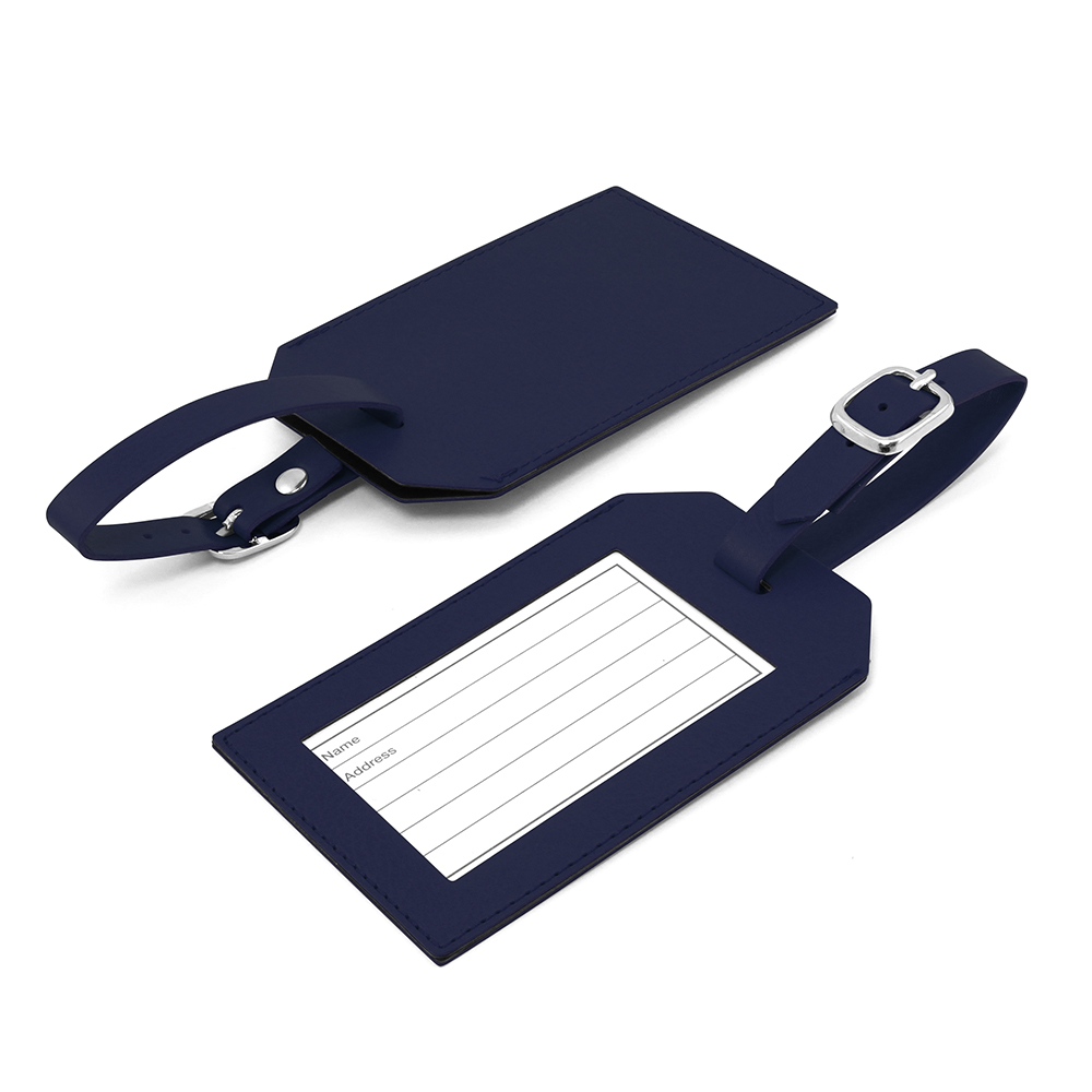 Promotional Belluno PU Rectangle Luggage Tag with window & printed address card