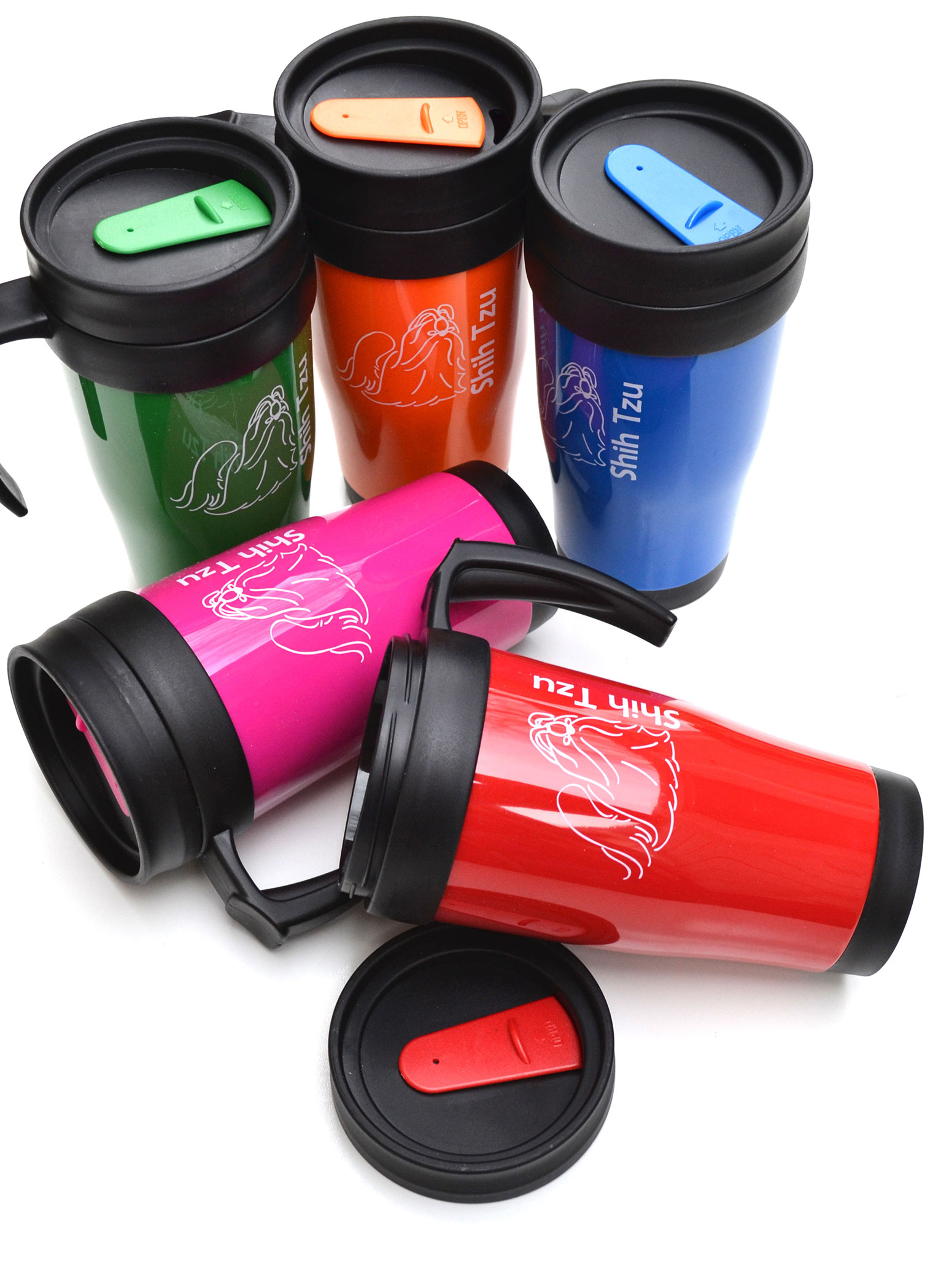 Personalised Polo Plus 450Ml Plastic Double Walled Travel Mug