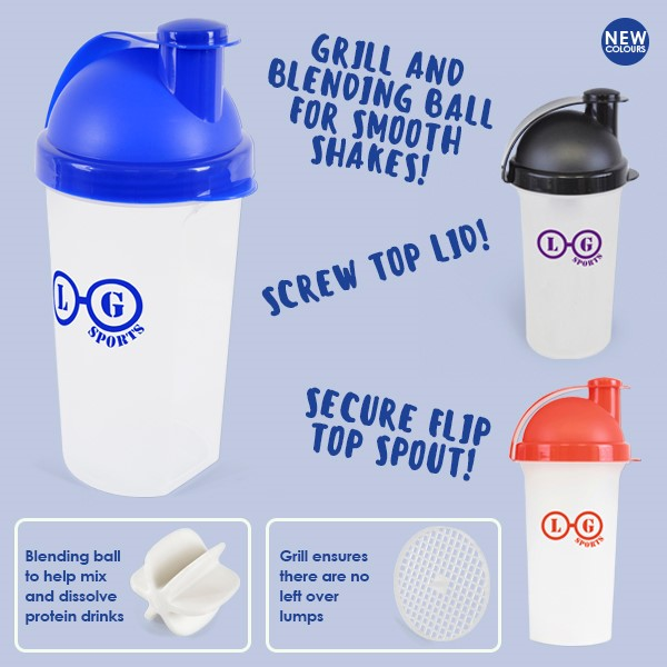 Promotional Plastic Shaker 700Ml Single Walled Plastic Protein Shaker