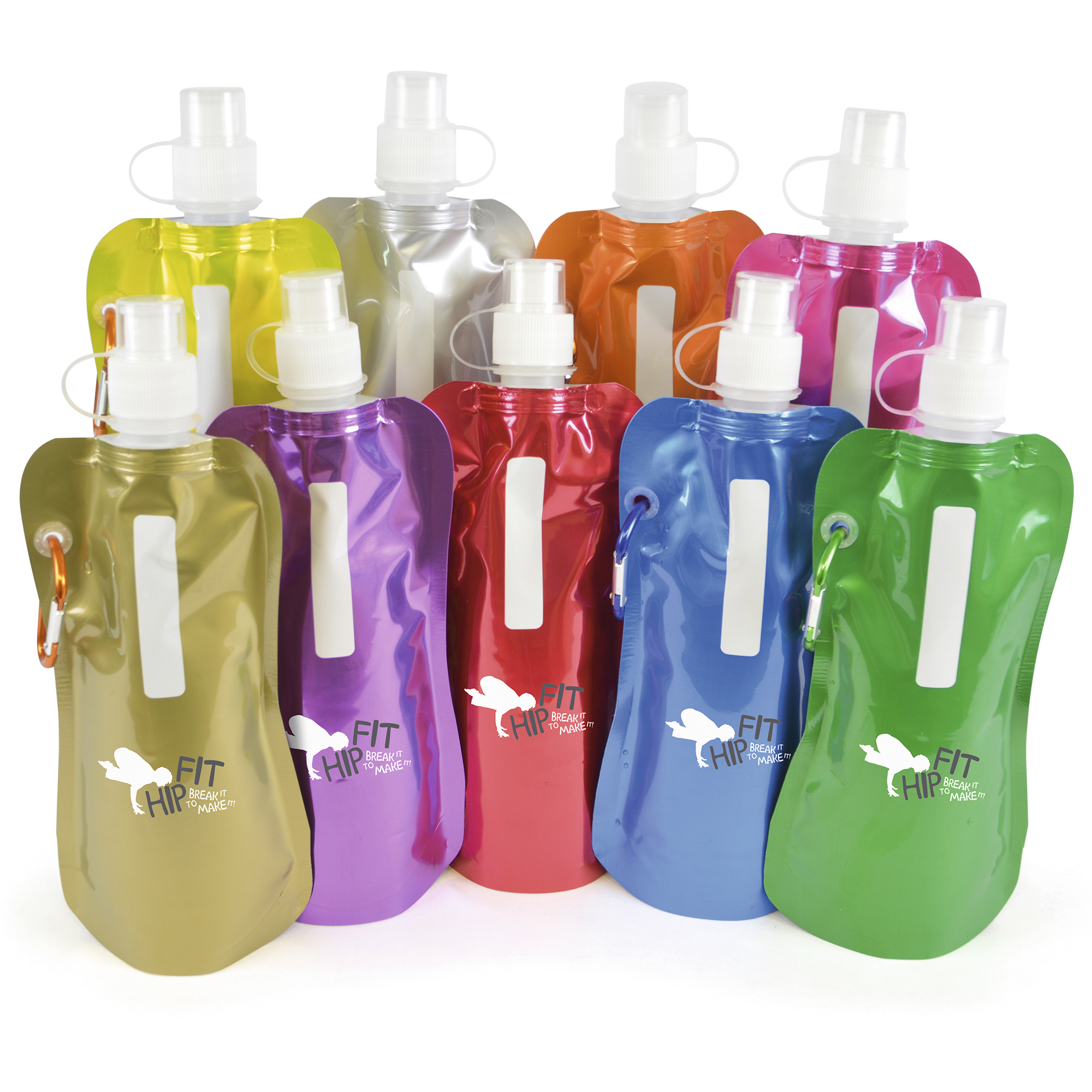 Promotional Metallic fold up bottle