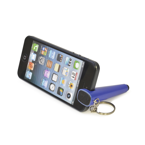 Branded Phone Stylus - Phone Stand Keychain - Pen Style