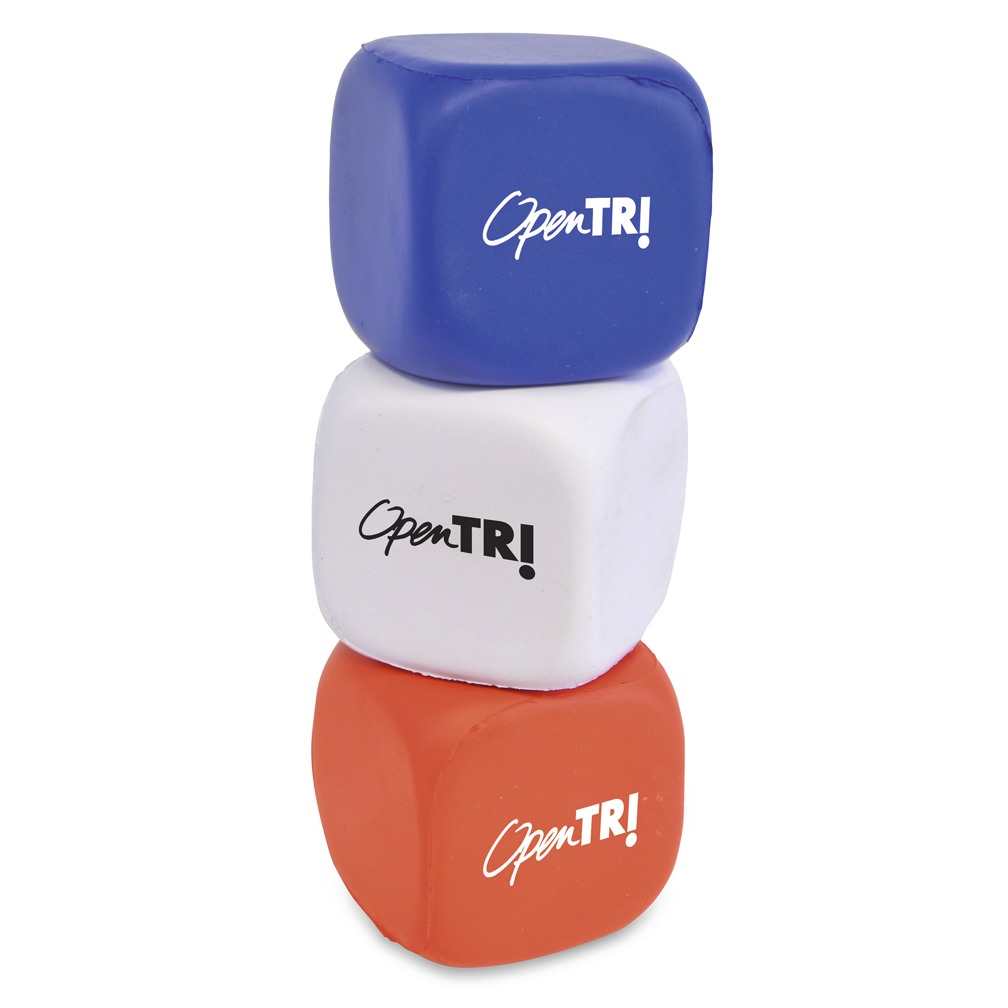 Promotional Cube shaped PU stress toy.  A great all round giveaway for an number of promotions.  Not use it to promote a kids play centre, include it in a Fresher's week giveaway or the openin