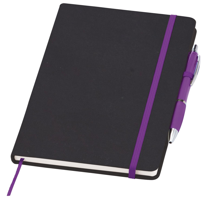 Personalised Medium Noir Notebook (Curvy)