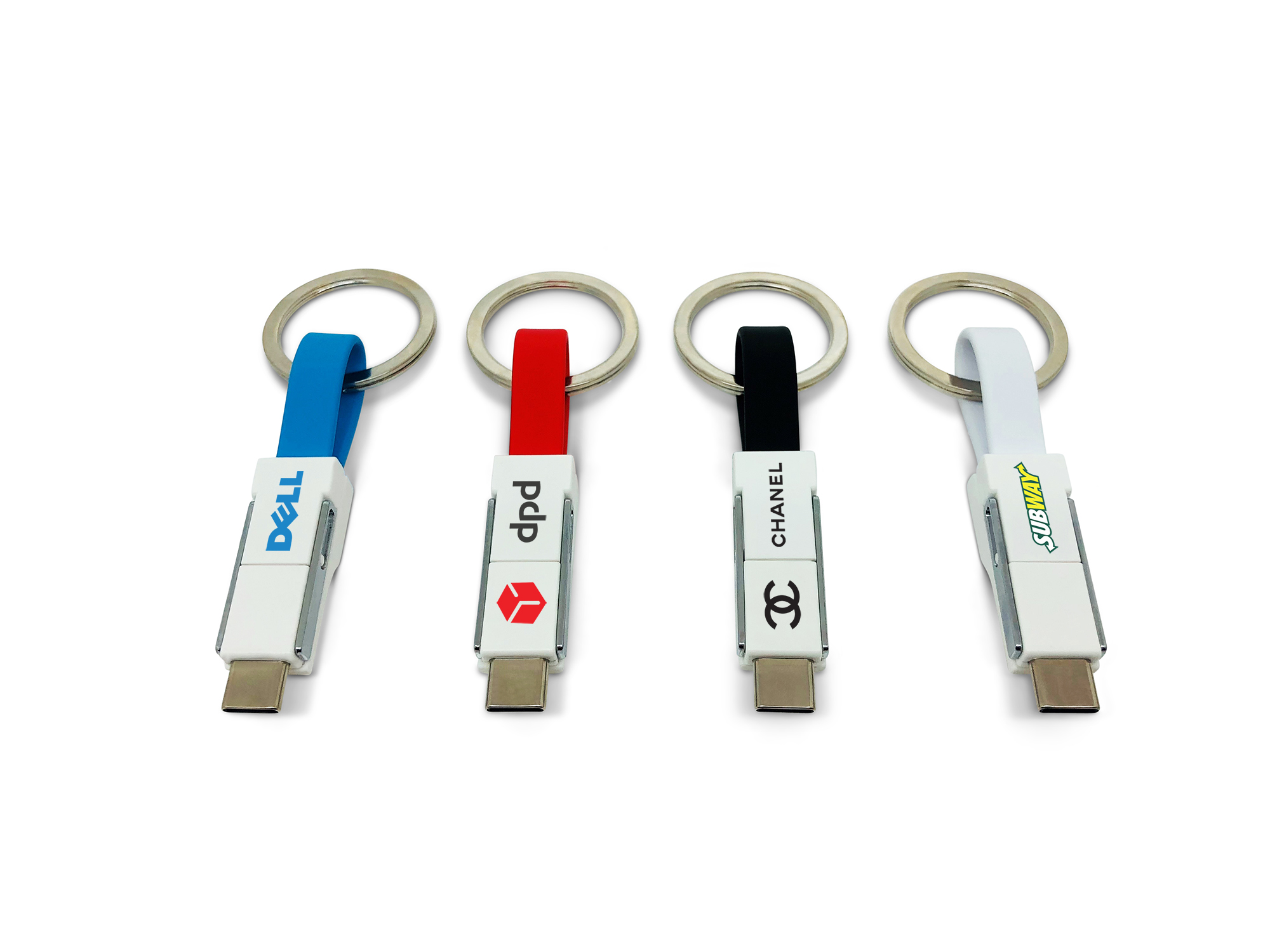 Printed 3-in-1 Keyring Charging Cable