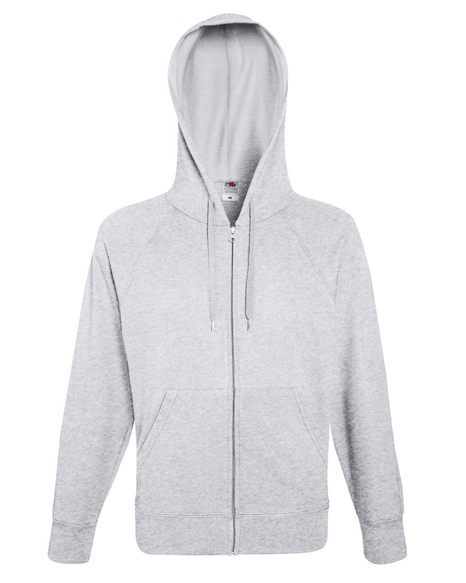Branded Lightweight Zip Hooded Sweatshirt