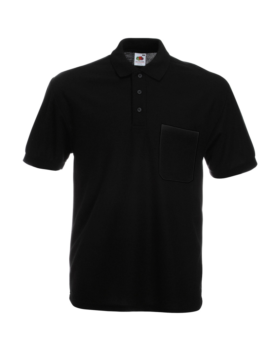 Branded Pocket Pique Polo Shirt