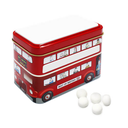 Promotional Bus Tin Mint Imperials