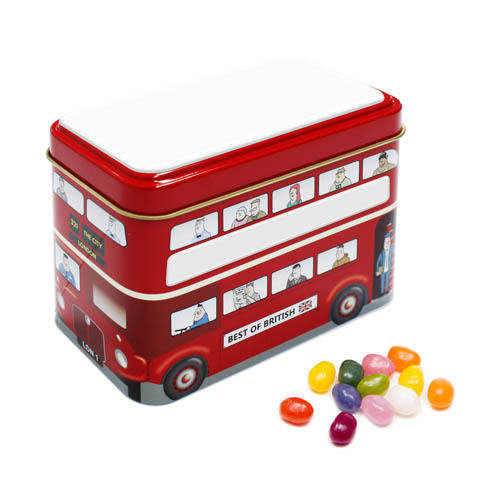 Promotional Bus Tin The Jelly Bean Factory Jelly Beans