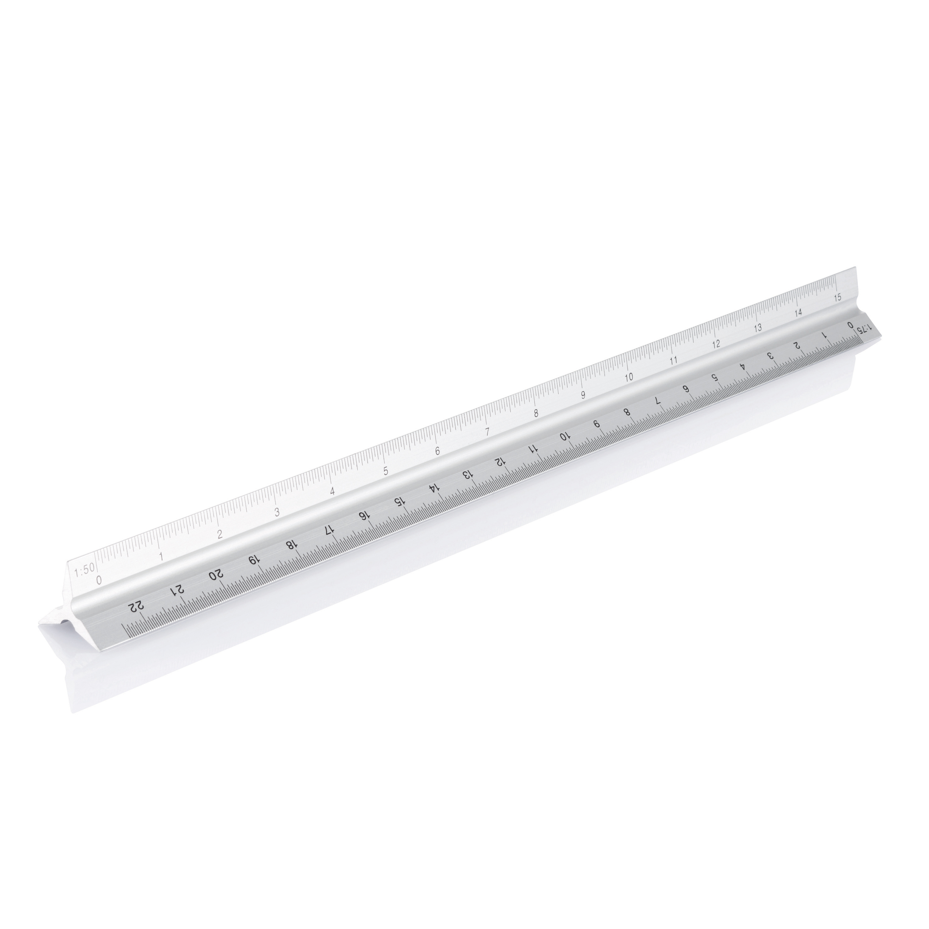 Promotional Aluminium triangle rule - 30cm, silver