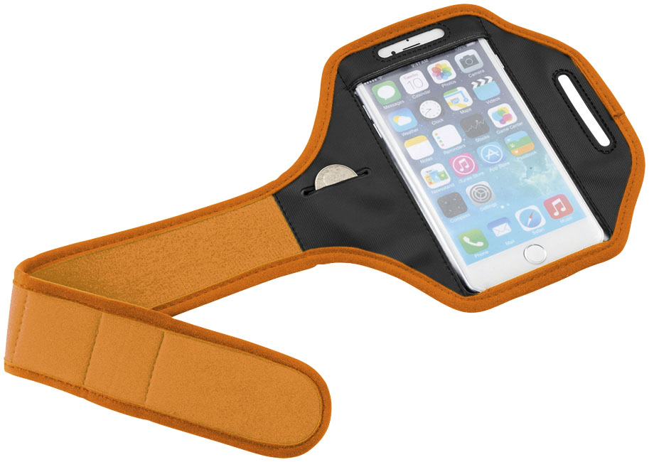 Imprinted Gofax smartphone touch screen arm strap