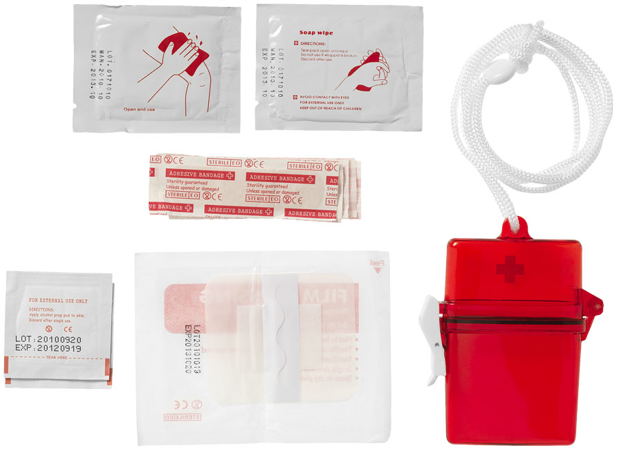 Personalised 10 piece first aid kit