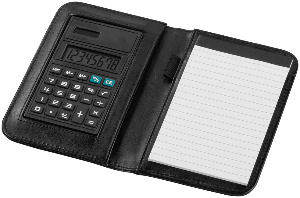 Promotional Smarti A6 notebook with calculator