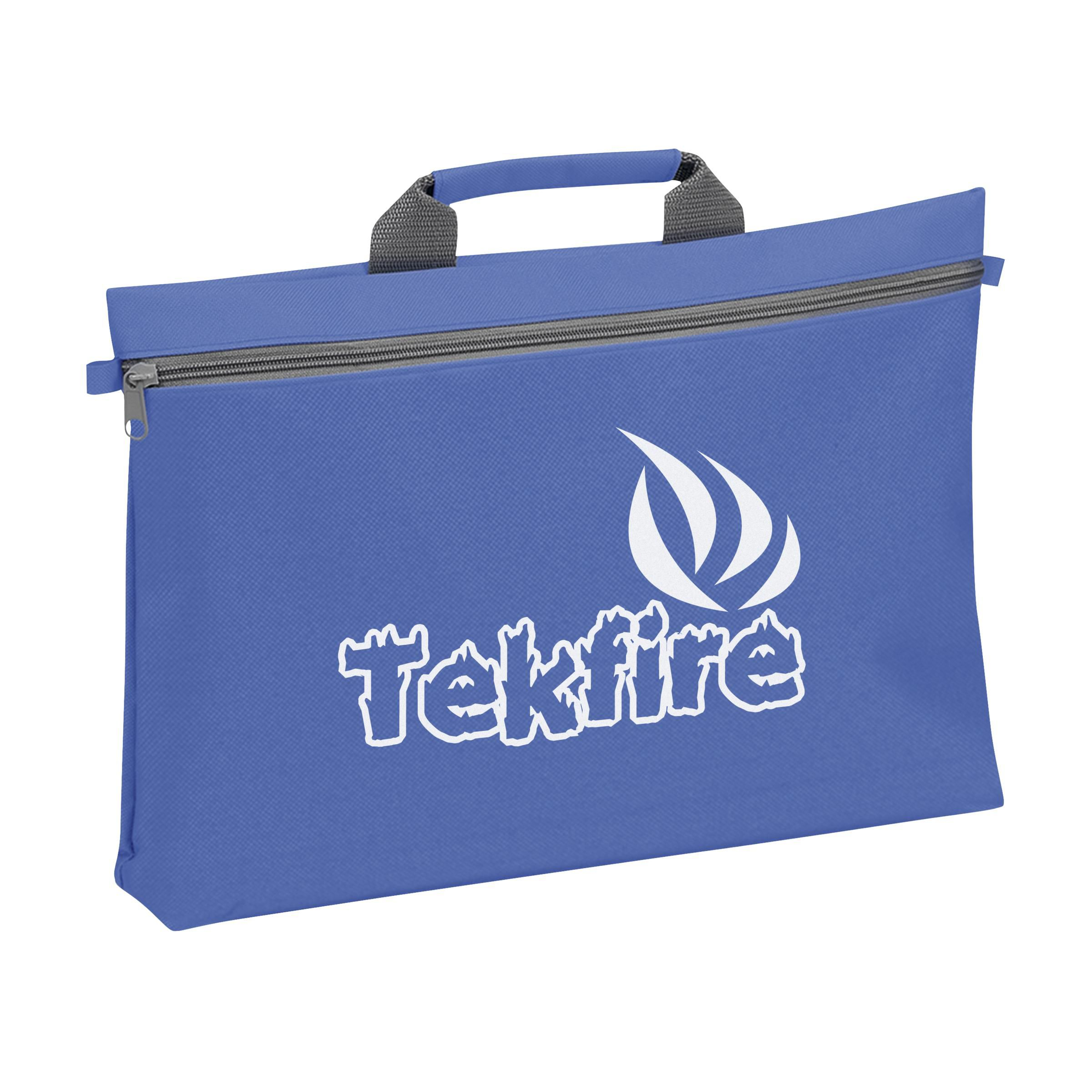 Promotional Orlando zippered conference bag with pen loop