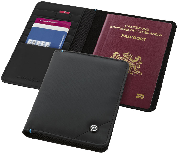 Branded Odyssey RFID secure passport cover