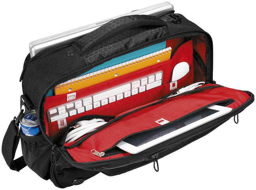 Branded Vapor checkpoint-friendly 17'' laptop attaché