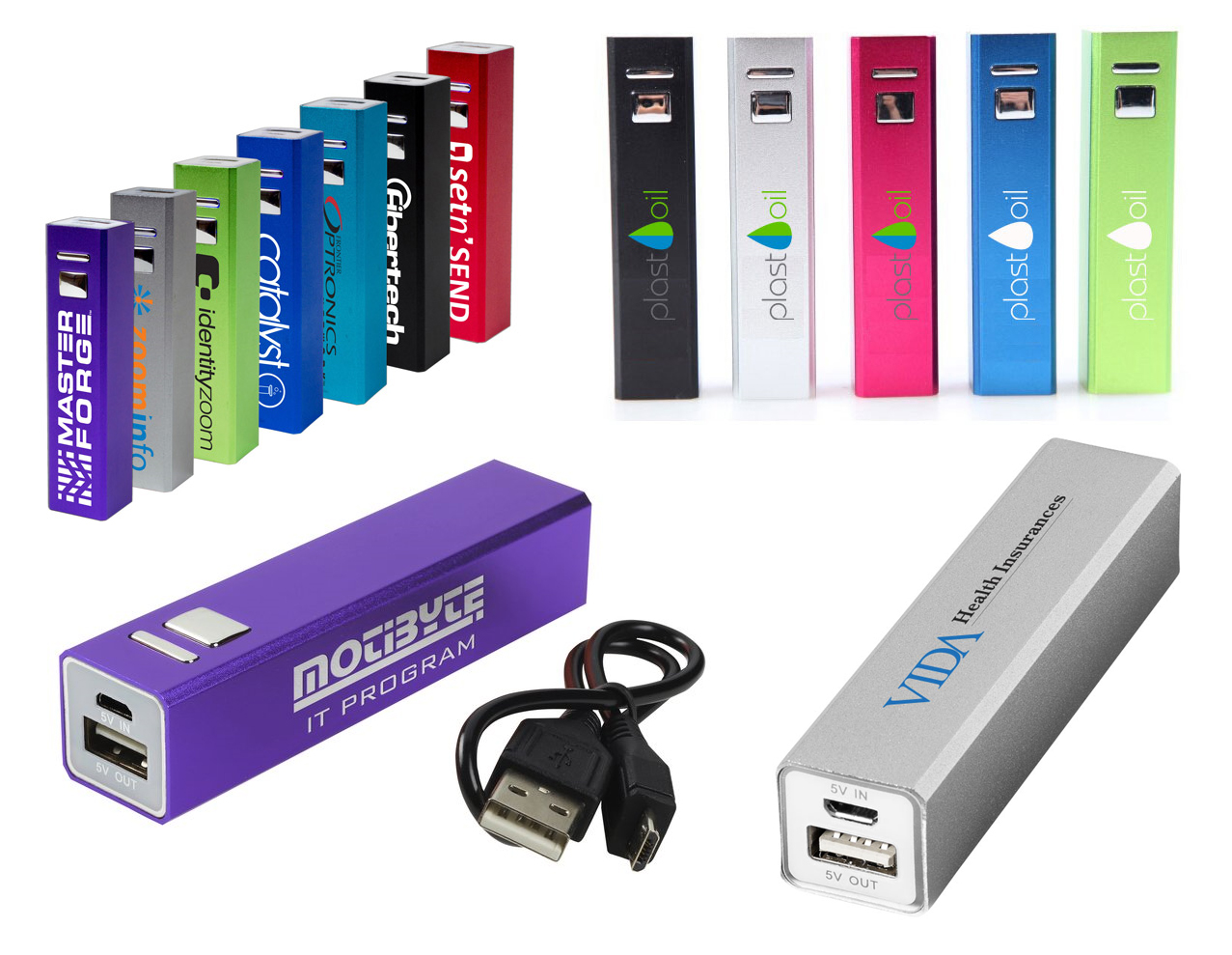 Promotional Volt alu power bank 2200mAh