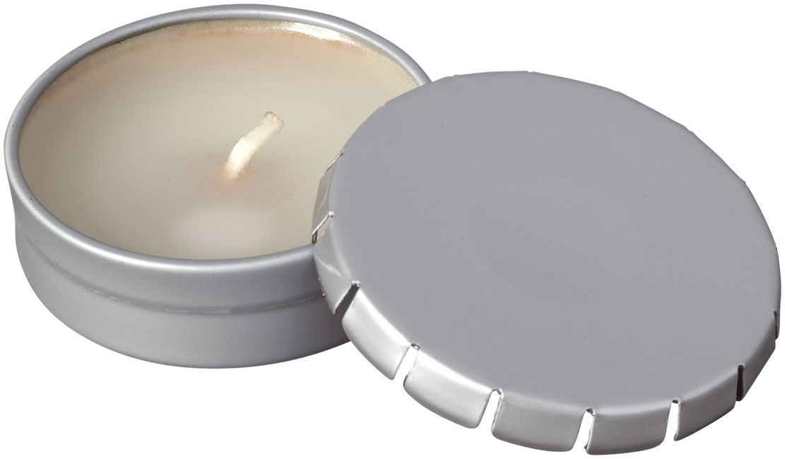 Printed Bova scented candle in tin