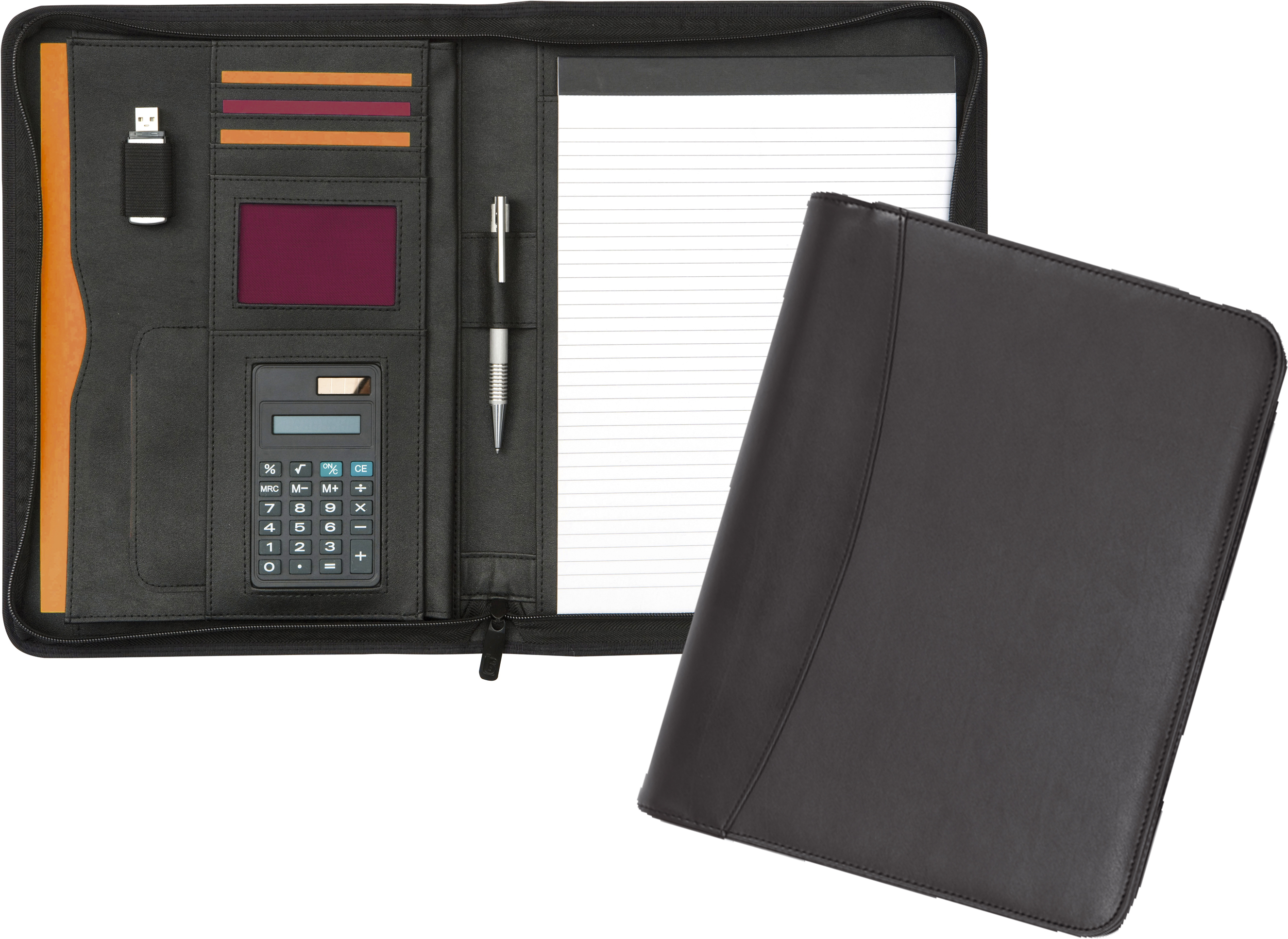 Promotional Pembury Zipped Calcufolder Folder A4