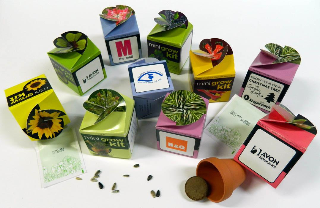 Printed Flower set - Tiny Terracotta Cube