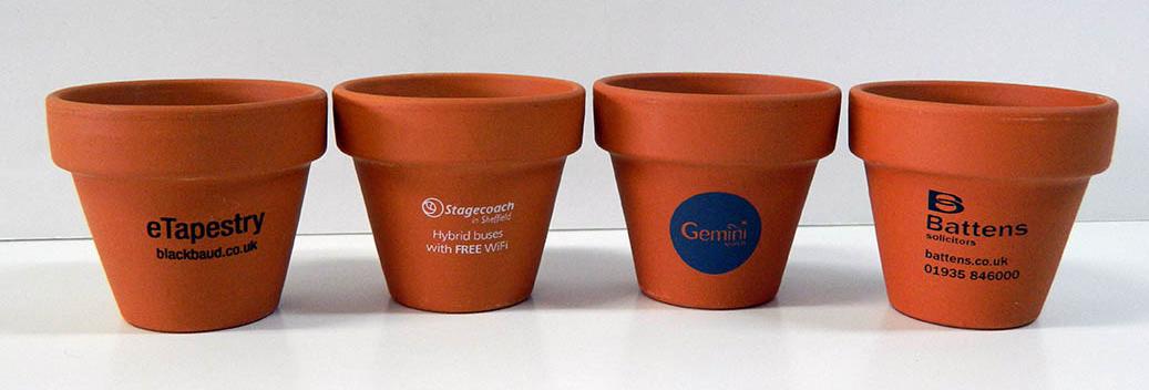 Branded Flower Set - Tiny Terracotta Pot