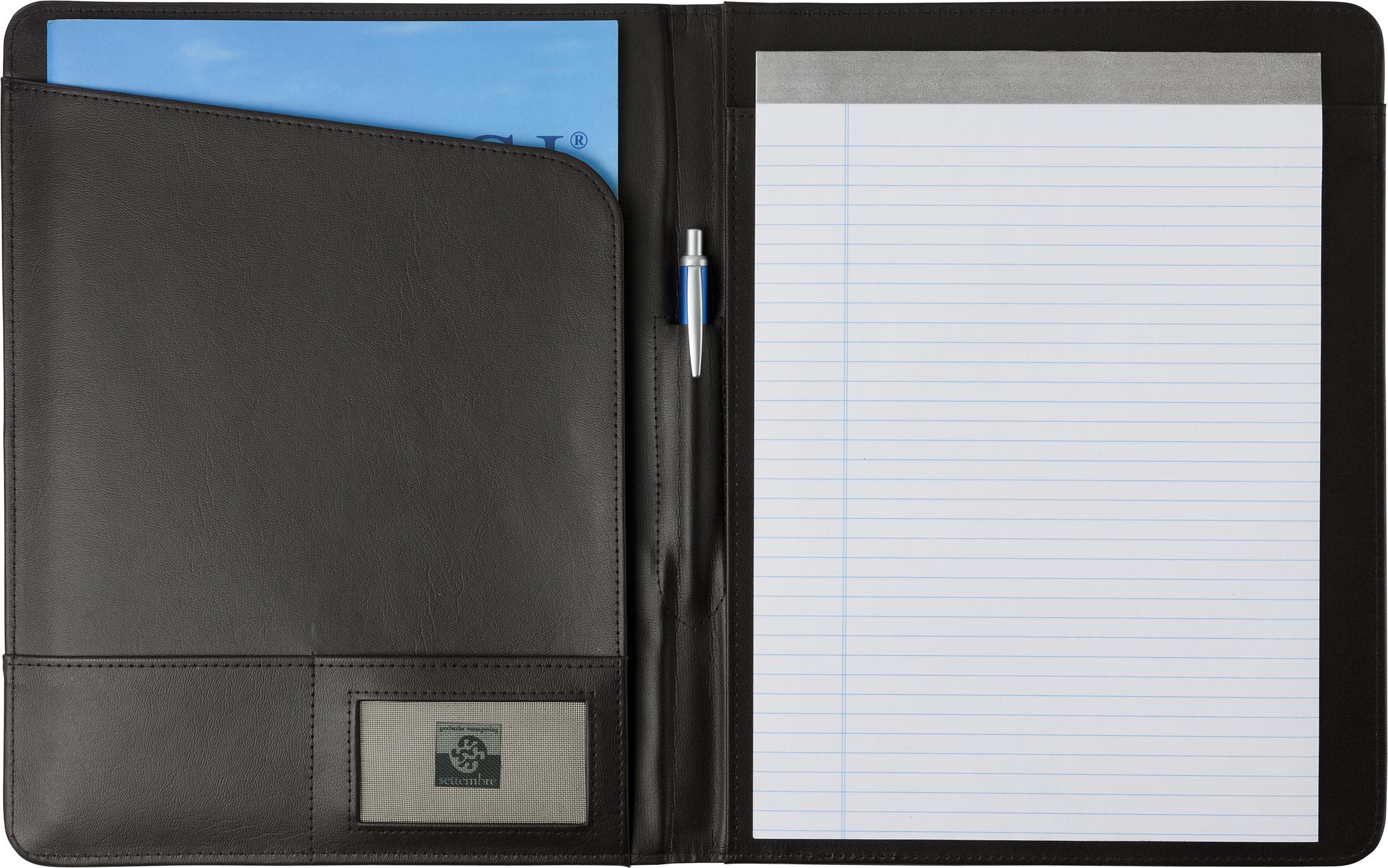 Promotional A4 Bonded leather folder.