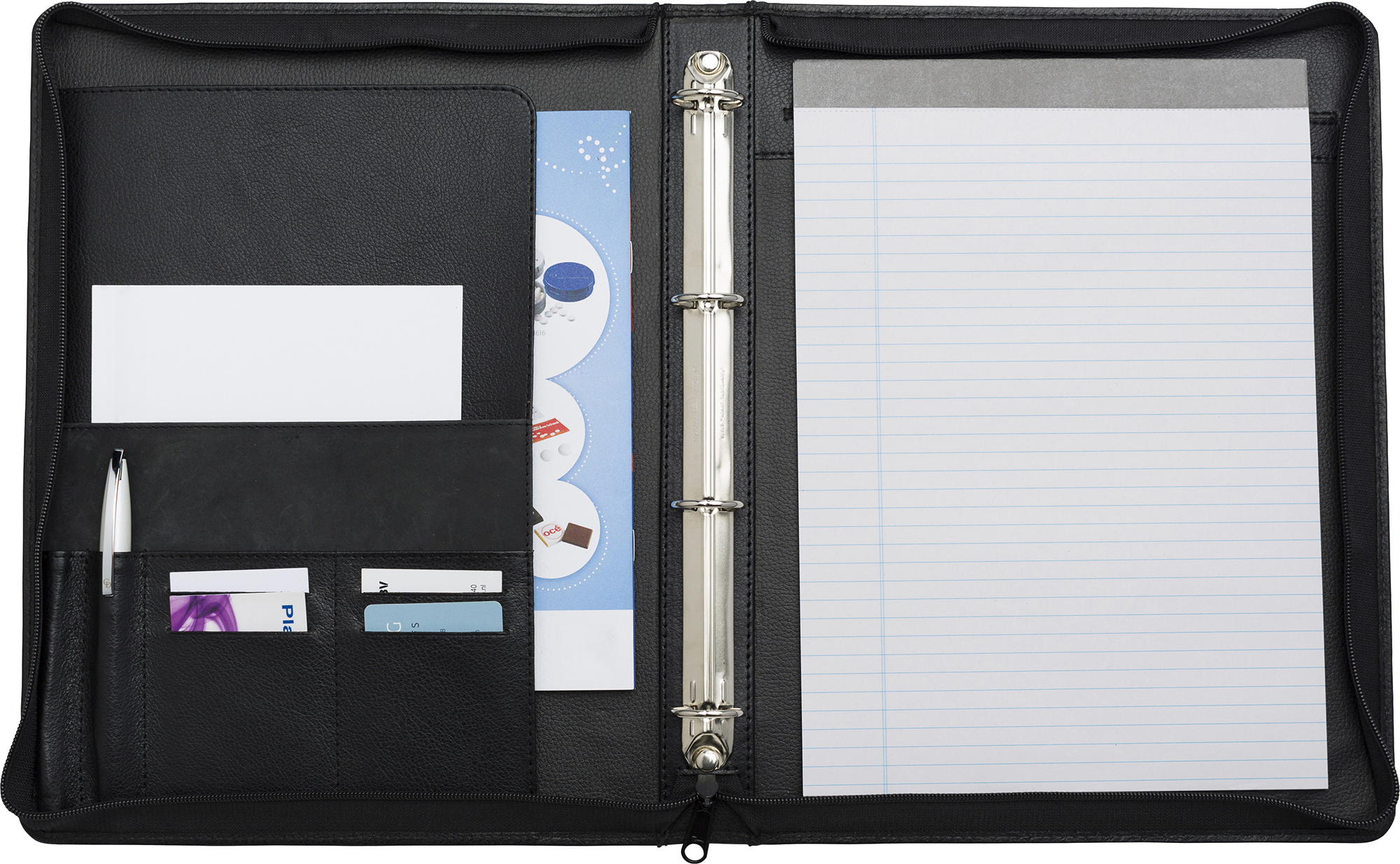 Promotional Leather Charles Dickens A4 zipped folder