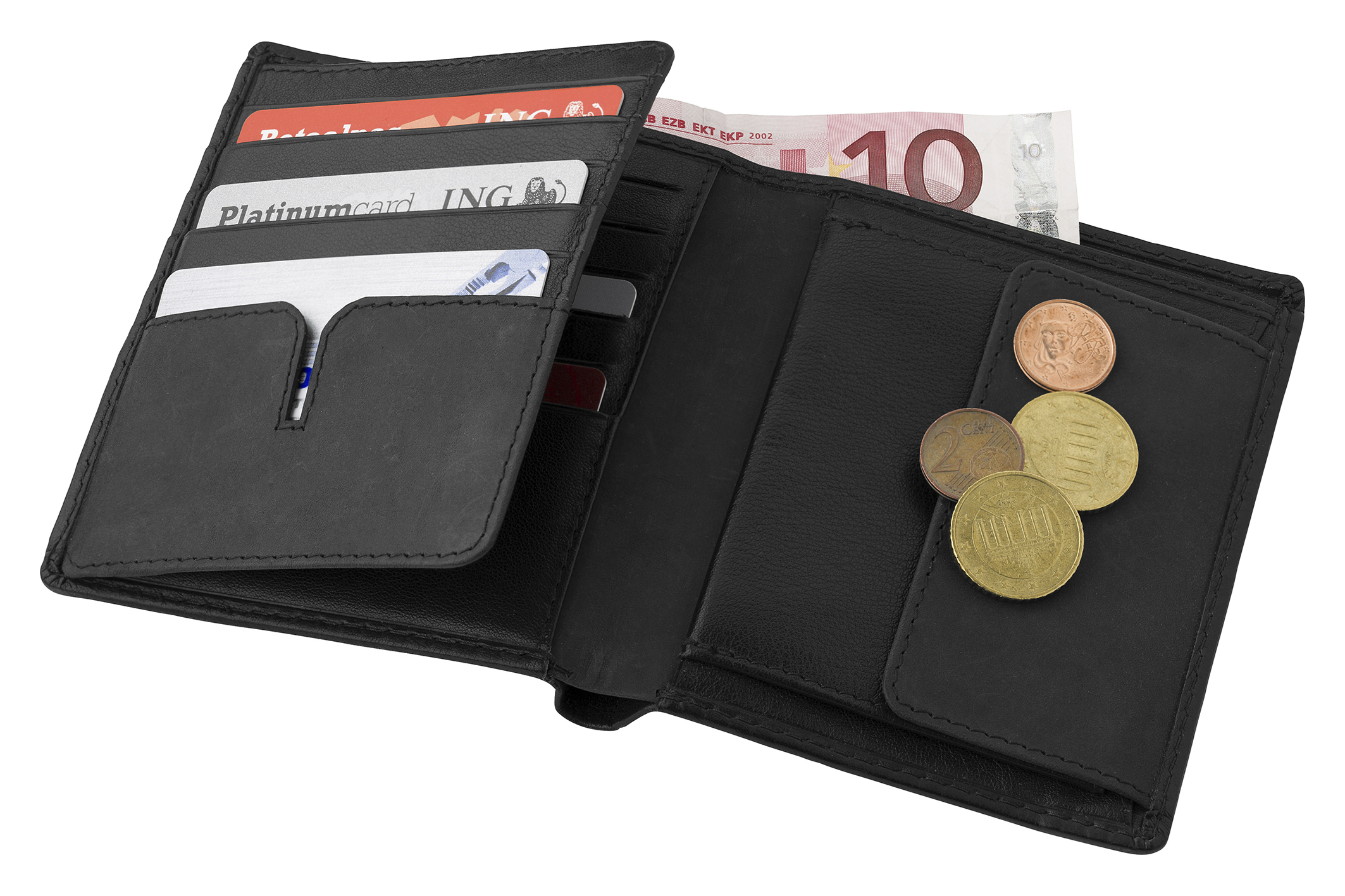 Branded Leather Charles Dickens® wallet.