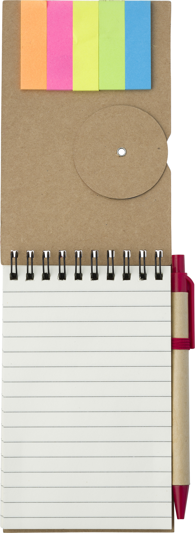 Promotional Wire bound notebook.