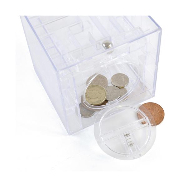 Promotional Maze Plastic Cube Shaped Money Box