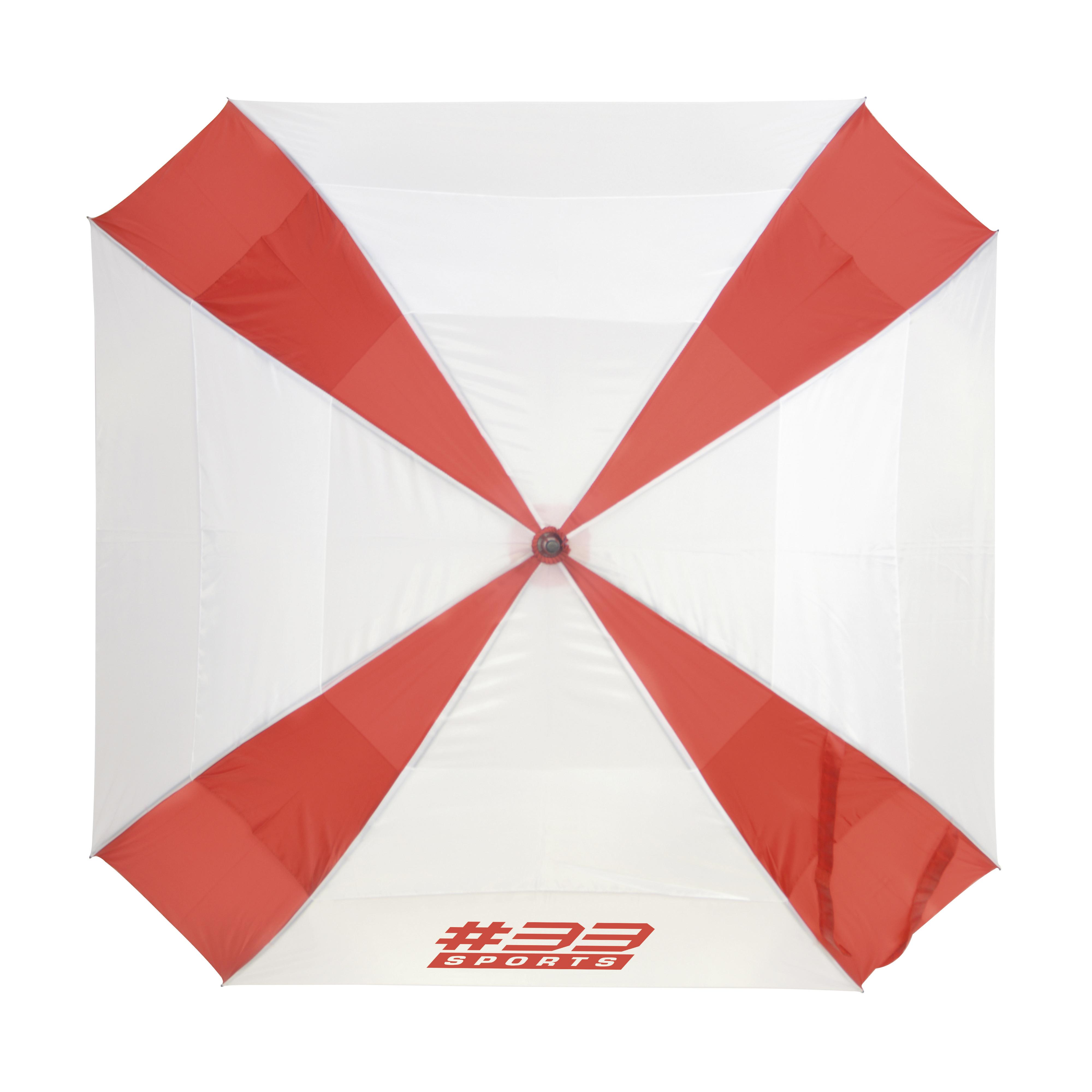 Promotional Square 29 Inch Square Manual Golf Umbrella