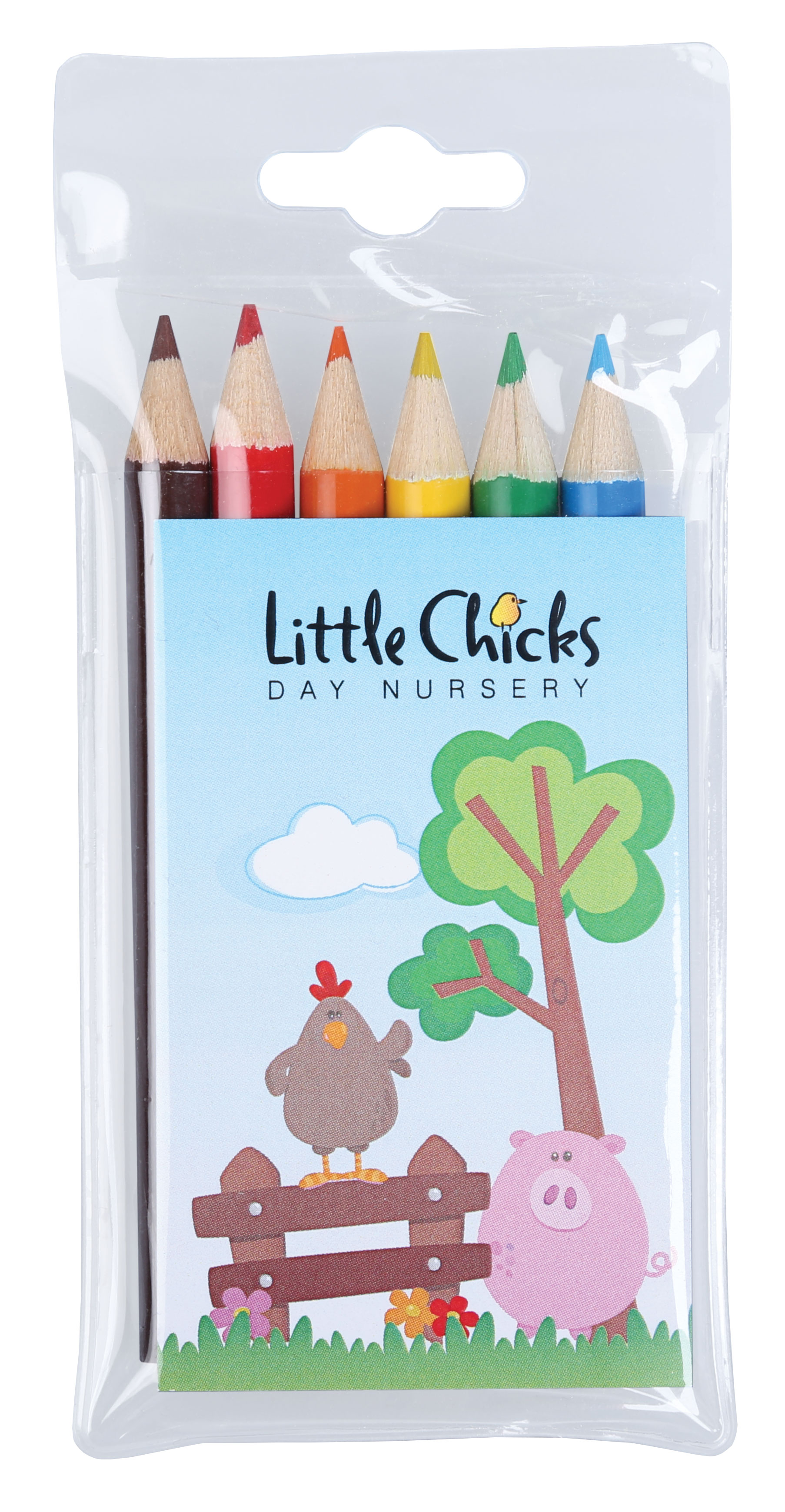 Promotional 6 Pack Of Colouring Pencils