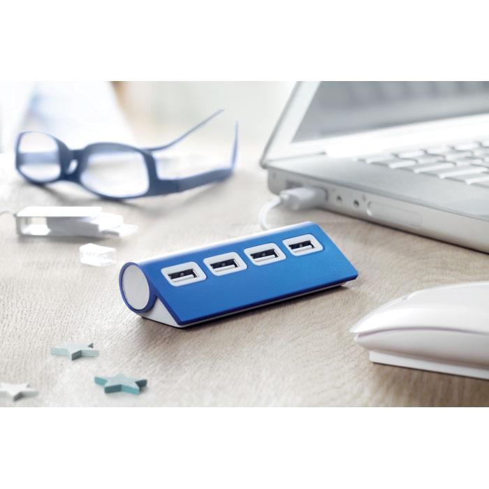 Personalised 4 port USB hub