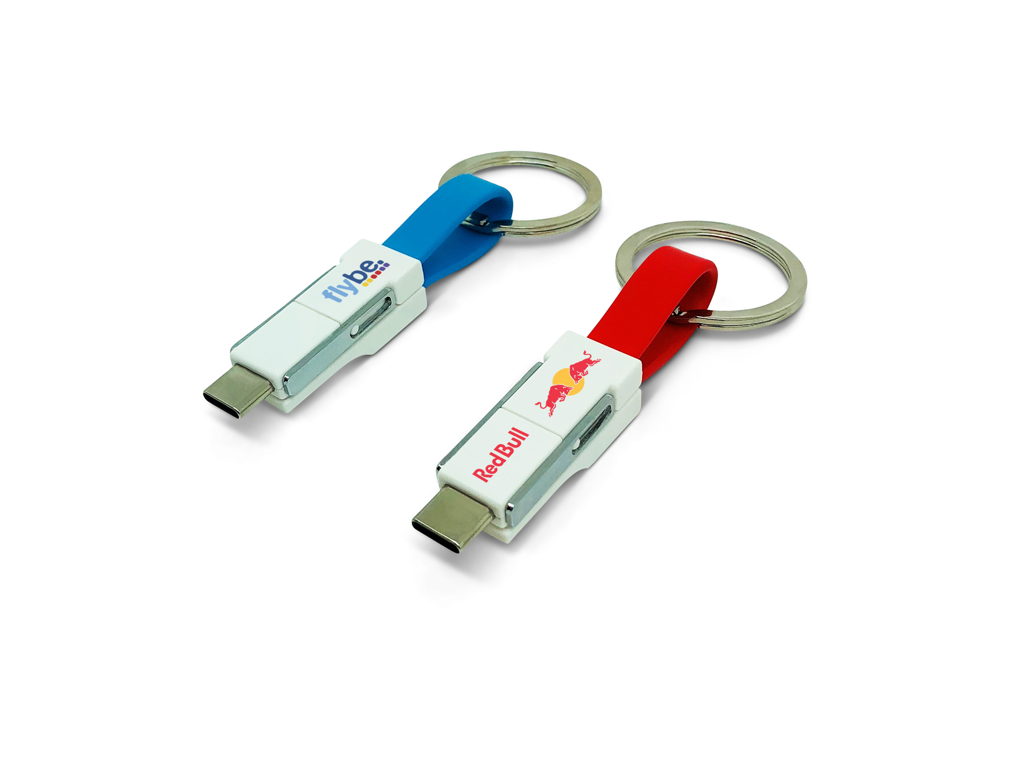 Promotional 3-in-1 Keyring Charging Cable