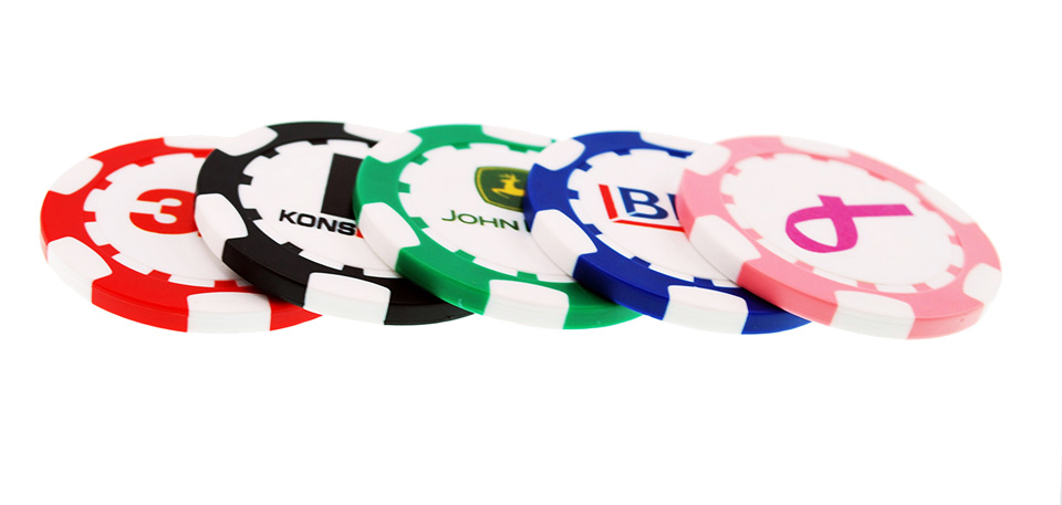 Promotional 8 Stripe Poker Chip Markers